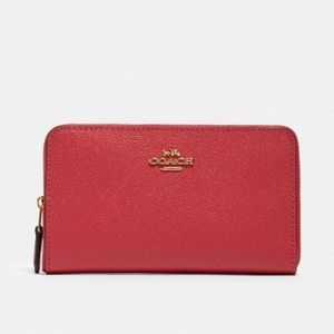 COACH | Red Leather Wallet NWT